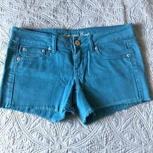 AE dark teal shorts